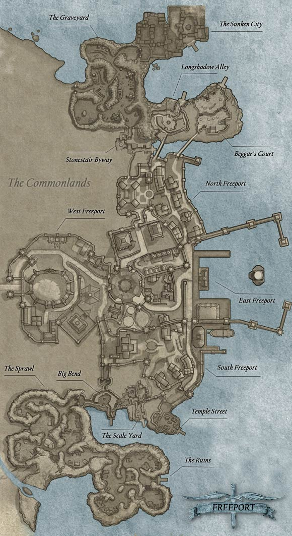 EverQuest 2 Freeport All Map eq2gamepressurecom